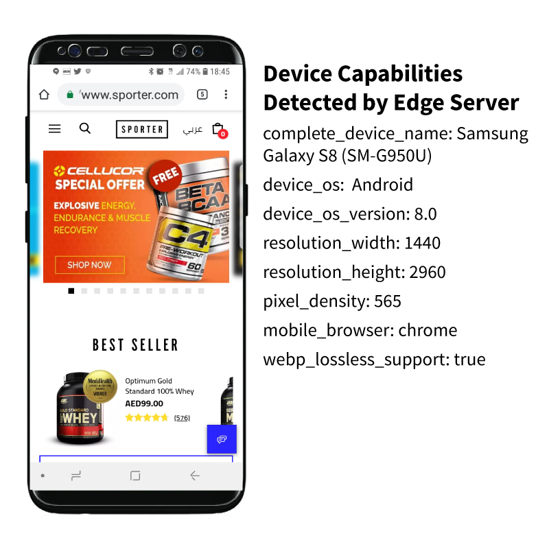 Samsung detected by device-aware edge servers